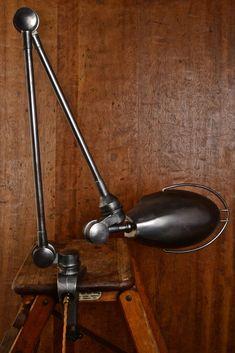 Image of Jielde Industrial Lamp Industrial Style Coffee Table, Vintage Industrial Lighting, Industrial Design Furniture, Industrial Pendant Lights, Vintage Lamps, Pendant Lighting, Light Pendant, Antique Furniture, Recycled Lamp