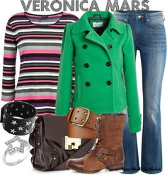 Inspired by Veronica Mars main character played by Kristen Bell.