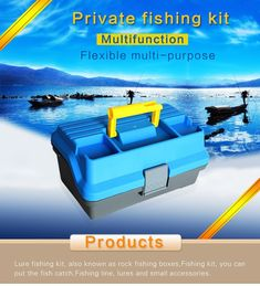 3 Layer Big Fishing Lure Tackle Box Handle Plastic Fishing Tool Case Durable * See this great product. Fishing Tackle Box, Fishing Tools, Carp Fishing, Fishing Lures, Facts About Fish, Fishing Accessories, Handle, Plastic, Big