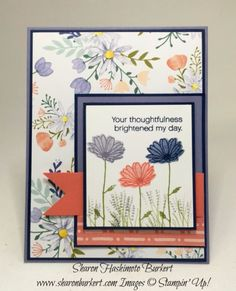 Time for the Try Stampin' On Tuesday Challenge.  The design team alternates weeks and this week is our team's turn.  I really like this clean and simple sketch. I adore the new Daisy Delight stamp se