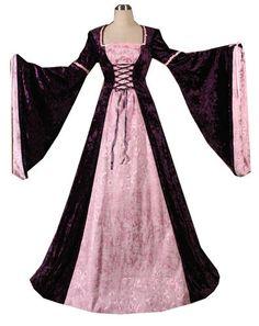 The Tudors Dresses | Middle Ages Fancy Dress - Ladies Medieval Tudor Costume Size 6 - 8 ...