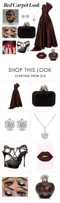 """Red Carpet"" by ennemorgenstern ❤ liked on Polyvore featuring Sachin + Babi, Jimmy Choo, EWA, Sergio Rossi and Christian Dior"
