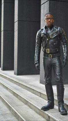 Very hot leather fucker Hot Black Guys, Black Boys, Black Men, Real Leather, Leather Men, Black Leather, Leather Fashion, Mens Fashion, Bike Leathers