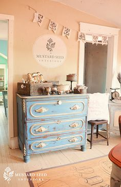 beautiful dresser- I would love this for Stella's room.