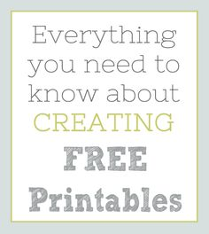 Everything You Need To Know About Creating Free Printables Printable Planner, Free Printables, How To Start A Blog, How To Make Money, Graphic Design Tips, Work From Home Jobs, Virtual Assistant, Blog Tips, Need To Know