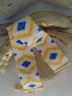 bracelet manchette tissage peyote miyuki delicas