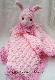 Crochet Pattern Bunny Huggy Blanket by Teri Crews instant