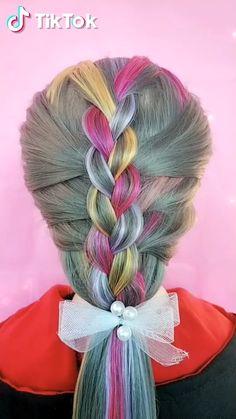 TikTok: schau dir lustige kurze Videos an - Unique Hairstyles, Pretty Hairstyles, Girl Hairstyles, Braided Hairstyles, Funny Hairstyles, Hairdos, Wedding Hairstyles, Hair Videos, Hair Hacks