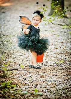 Orange Monarch Butterfly Wings Perfect for by PeanutandFriends