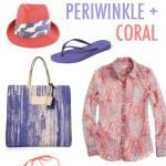 COLOR STORY :: PERIWINKLE + CORAL