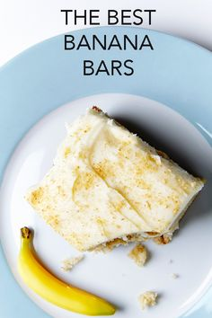 What can you do with those ripe bananas? Make these incredibly tasty and moist Banana Bars slathered with cream cheese frosting. #BiteMeMore #recipes