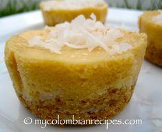 mini cheesecakes...dulce de leche y coco