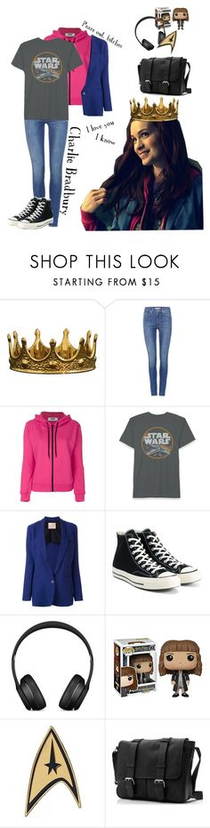 """Charlie Bradbury"" by catthepunisher ❤ liked on Polyvore featuring Seletti, Levi's, MSGM, Erika Cavallini Semi-Couture and Converse"