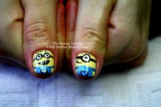 #CNDSHELLAC '#NAILART #MINIONS  Sunbleached  https://www.facebook.com/TheBeautyLoungeSalcombe