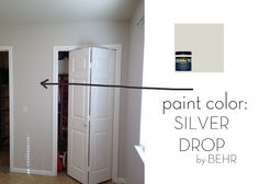 Silver Drop - Behr. Favorite paint color! Planned for the whole house :) w white trim/moulding