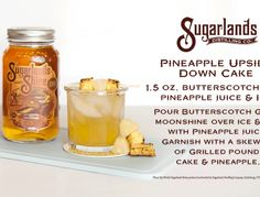 Moonshine Recipes   Sugarlands Distilling Company - Butterscotch Gold brings out tastes of brown sugar, caramel, and vanilla that informs memories of kettle corn at the county fair. Slight hazelnut notes and a lingering cream flavor contribute to a long finish that is welcome to stay. #butterscotchmoonshine #tennessee #gatlinburg