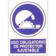 Señal Uso Obligatorio de Protector Ajustable - http://www.janfer.com/es/obligacion/624-senal-uso-obligatorio-protector-ajustable.html