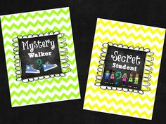 Mystery Walker & Secret Student signs read about this fun behavior management idea Happens in First Grade! Classroom Freebies, Classroom Posters, Classroom Fun, Classroom Displays, Kindergarten Classroom, Future Classroom, Classroom Organization, Classroom Management Techniques, Classroom Behavior Management