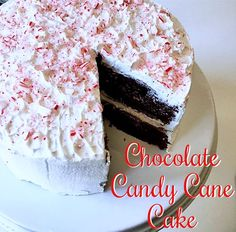 f13db9cdfd8 Chocolate-Candy Cane Cake (aka the best Christmas cake ever!) Easy to make  and one of the best chocolate cakes you ll ever eat
