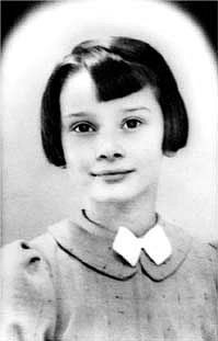 Young Audrey Hepburn at school in England in 1938.  Audrey  attended school at the Arnhem Conservatory in the Netherlands between 1939 and 1945. In addition to regular school work, she also began training in ballet. Audrey Hepburn Estate