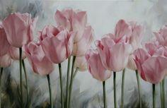 Igor Levashov - Розовые тюльпаны  2, 2011г,  100 Х 160 см, х/м, Размещено на сайте 20.05.2012, © Copyright 2012, худ. И.Е.Левашов, Арнем (Нидерланды)