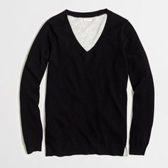 Factory colorblock tunic sweater : v-neck   J.Crew Factory