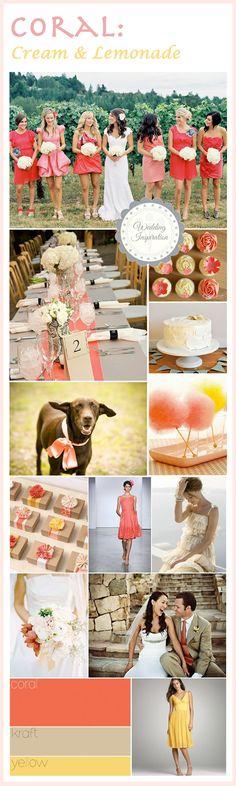 Wedding Colors: Coral, be still my heart! « « The Art of Weddings. Portland Wedding Vendors & Blog The Art of Weddings. Portland Wedding Vendors & Blog