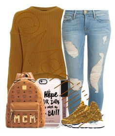 """""""First day 10th"""" by marriiiiiiiii ❤ liked on Polyvore featuring Casetify, Frame Denim, Smashbox, NIKE and MCM"""