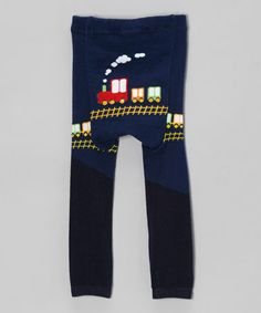 Navy & Black Train Pants                                 #zulilyfinds