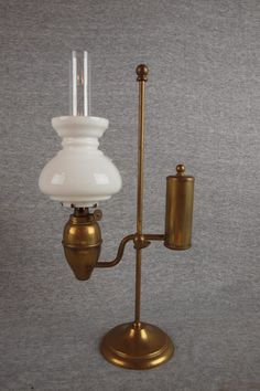 """Lot: 1173:  Miniature lamp - brass student lamp no. 85, 13"""" , Lot Number: 1173, Starting Bid: $100, Auctioneer: Strawser Auction Group, Auction: Huge Three Day Antique Auction - Day #3, Date: September 28th, 2012 EDT"""