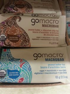 Product: Gomacro, Macro bar (peanut butter or peanut butter and chocolate). Store: Independent Grocery store (Dundas  Street East. Belleville, ON).  While these high protein snack bars (peanut butter or peanut butter and chocolate) do not contain any high FODMAP ingredients,other Gomacro snack bars often do (check ingredient lists). Neal Glauser, RD (05/18/2014).