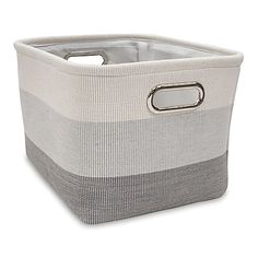 As pretty as it is practical, the Ombre Storage Basket lets you clean up household clutter in style. Showcasing a chic stripe design, this lightweight basket features a sturdy construction and built-in carry handles for easy transport.