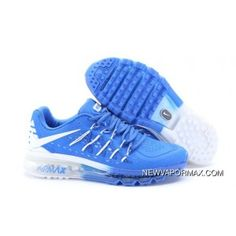 newest c97a4 3ca34 Top Deals Nike Air Max 2015 Men Royalblue White Running Shoes