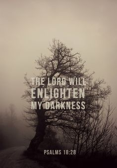 The Lord will enlighten my darkness.
