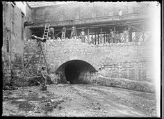 Luis Alberto Acuña, Canalización río San Francisco, 1910.
