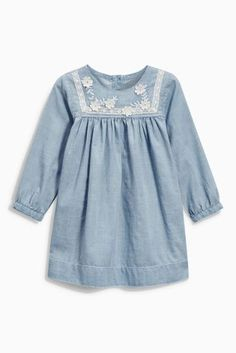 Buy Denim Lightweight Dress With Contrast Appliqué (3mths-6yrs) online today at Next: United States of America