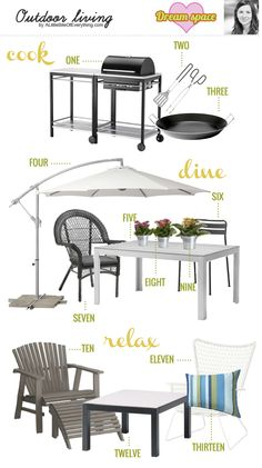 """IKEA DREAM HOME + BLOGGER STYLE"", outdoor living @Alittlebitofeverything.com"