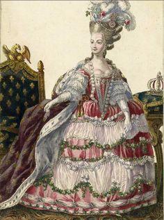María Antonieta en un traje de Rose Bertin
