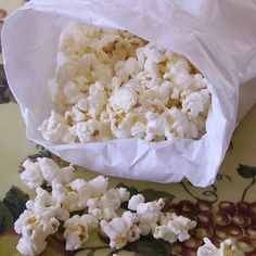 """Microwave Popcorn   """"Believe it or not, you can make your own delicious, low-fat microwave popcorn using standard popping corn and a brown paper lunch bag. It works perfectly."""""""