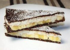 Kokosovo - banánova torta bez cukru a pečenia, recepty Dairy Free Recipes, Raw Food Recipes, Sweet Recipes, Cookie Recipes, Dessert Recipes, Healthy Cake, Healthy Sweets, Healthy Baking, Fitness Cake