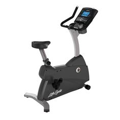 The C3 Lifecycle from Life Fitness is an upright exercise bike which delivers a seated cardiovascular workout in your home for efficient calorie burning and weight loss. With enhanced non-slip self-balancing pedals with ratcheting straps, large cushioned seat, and ergonomically-designed, racing style handlebars, this traditional exercise cycle is precisely engineered to deliver the most natural upright riding position to ensure a comfortable, effective workout. Upright Exercise Bike, Home Exercise Bike, Exercise Bike Reviews, Exercise Cycle, Upright Bike, Connected Life, Apple Health, Races Style, 54 Kg