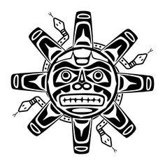 Tatuaggio di Sole Haida, Fertilità, vita tattoo - TattooTribes.com