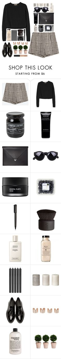 """""""bianca"""" by rebecaponto ❤ liked on Polyvore featuring Zara, Rebecca Taylor, Givenchy, Alexander Wang, Koh Gen Do, Harley-Davidson, NARS Cosmetics, Chanel, Tom Dixon and Burberry"""