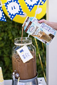 Just Paint It: Add a Twist To Your Lemonade Stand with Iced Coffee! I think this could be really successful for the early morning hours of the lemonade stand.