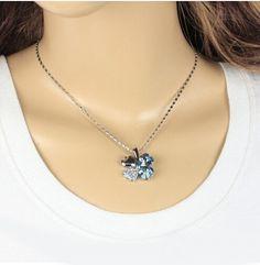 $0.99 promoción hotsell fábrica 18KGP cristal austriaco de cuatro hojas del trébol rhinestones del corazón del collar de la joyería pendiente 9554 en Cadenas de Joyería en AliExpress.com | Alibaba Group