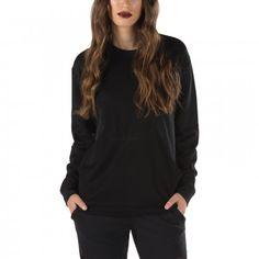 Vans Betsy Mesh Crew Fleece Black - Vans Netherlands Official Online Store