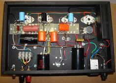 12SL7 SRPP / KT88 Push-Pull Tube Amp - Inside View