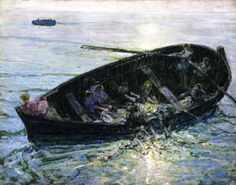 Jean-Francois Millet — artist-tanner: Miraculous Haul of Fishes, American Realism, African American Artist, American Artists, Impressionist Paintings, Seascape Paintings, Henry Ossawa Tanner, Pictures Of Christ, Bible Pictures, Paintings