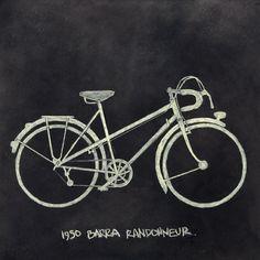 Barra Randonneur / chalkboard illustration by chalk chalk.
