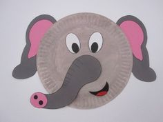 Elephant-Paper-Plate | Crafts and Worksheets for PreschoolToddler and Kindergarten & Paper Plate Animals craft | KIDS! (Arts and Crafts) by Amy Easterly ...